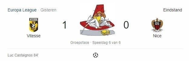 Nancy op Noord: Vitesse - Nice