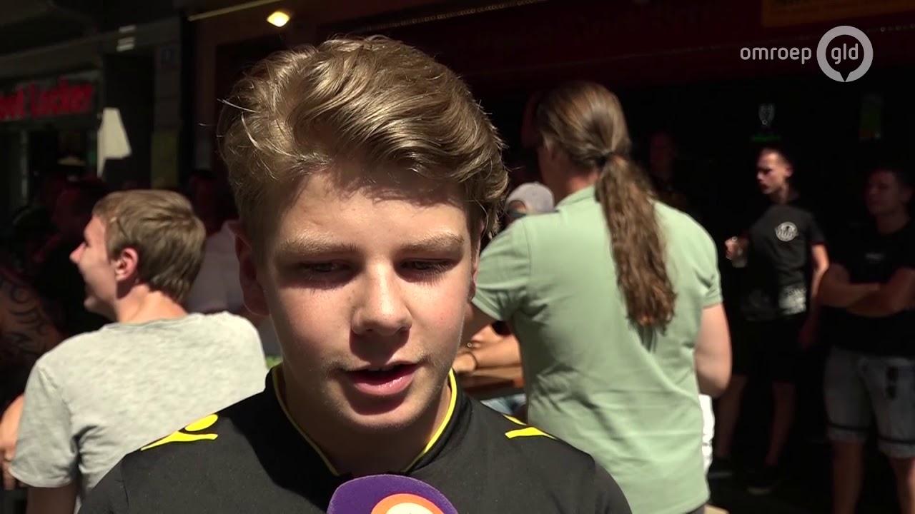 'In onze stad al aan de Rijn': Vitesse-supporters maken feest in Basel